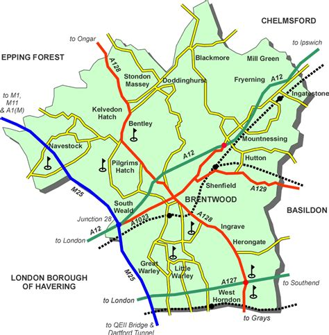 brentwood map map of brentwood essex