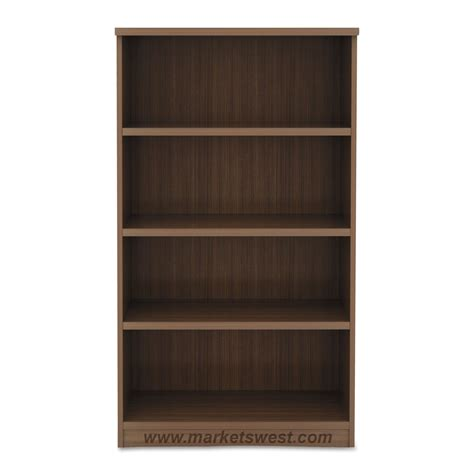 alera 4 shelf laminate bookcase