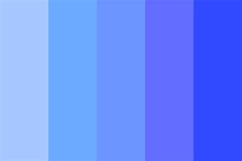 bright blue color drowning in a bright blue color palette