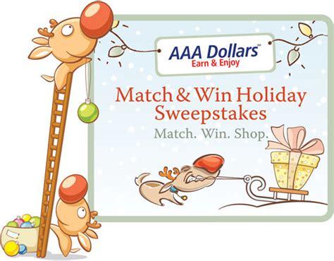 Aaa Contests Sweepstakes - aaa match win holiday sweepstakes 2010