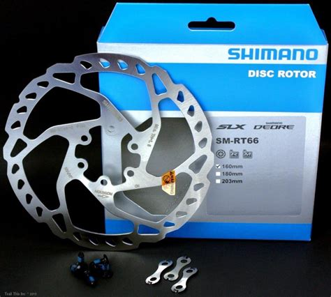 shimano sm rt66 160 180 or 203mm 6 bolt mtb bike disc