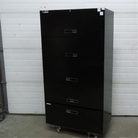 Lateral Locking File Cabinet Steelcase Black 5 Drawer Lateral File Cabinet Locking Allsold Ca Buy Sell Used Office
