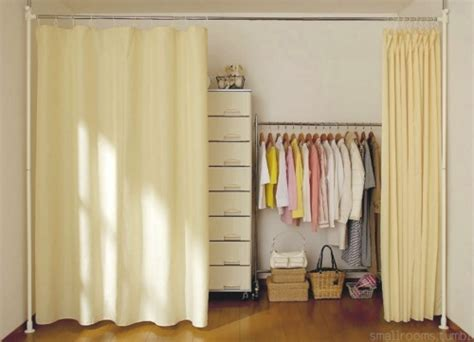 cover closet with curtain smallrooms