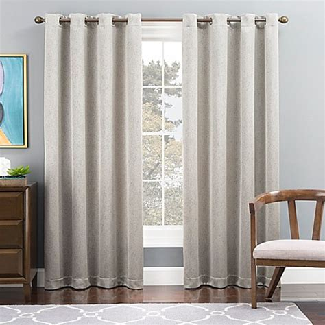 Lined Grommet Curtains Tribeca Grommet Top Lined Window Curtain Panel Bed Bath Beyond