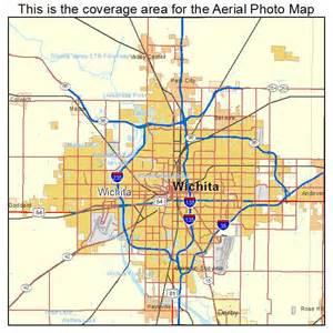 wichita map aerial photography map of wichita ks kansas