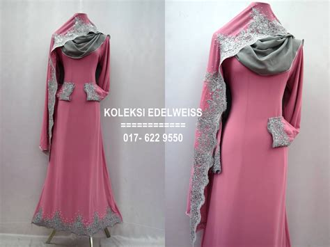 koleksi edelweiss baju pengantin baju nikah dan tunang muslimah terkini preorder 12 warna