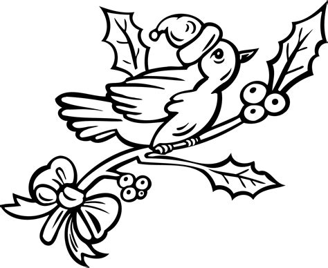 christmas bird coloring page birds on a christmas tree coloring pages pages for