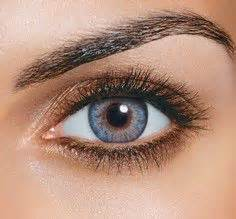 blue colored contacts for brown colored contacts on korean makeup circle