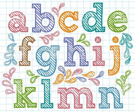 design elements fonts hand drawn font small shaded letters design elements