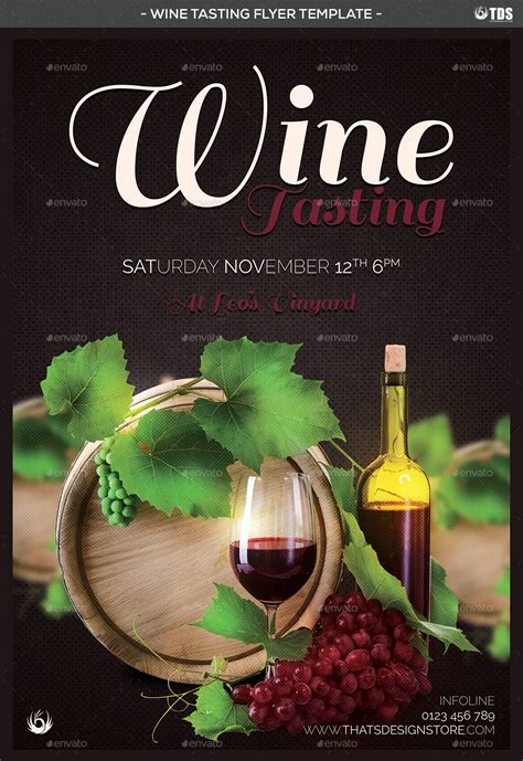 Wine Tasting Flyer Template By Lou606 Graphicriver Wine Tasting Event Flyer Template Free