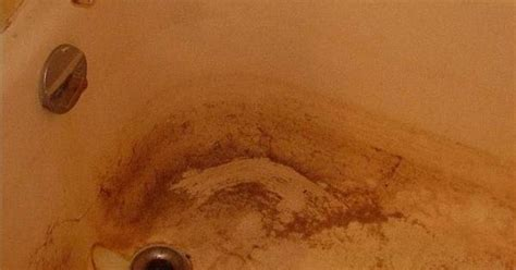 hard water stains bathtub how to clean a stained fiberglass tub tubs and cleaning