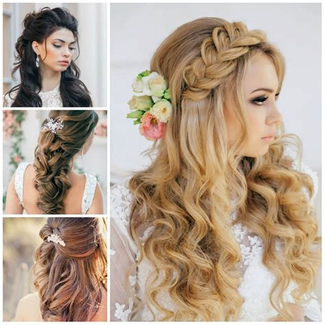Half Up Hairstyles For Hair by Wedding Half Up Half Hairstyles For 2016 Haircuts