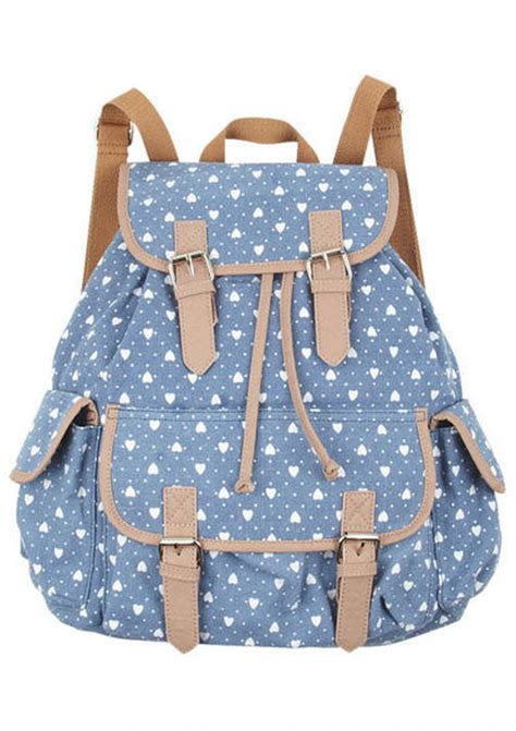 printed canvas backpack with pouch printed canvas backpack view all accessories