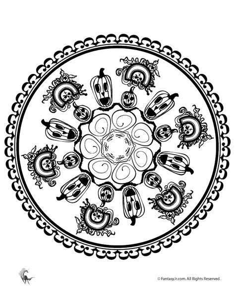 mandala coloring pages halloween 15 best yay halloween printables images on pinterest