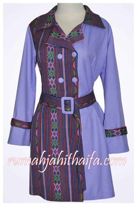 design gamis blazer model blazer kain tenun holidays oo