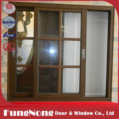 aluminum horizontal sliding glass window  grill design