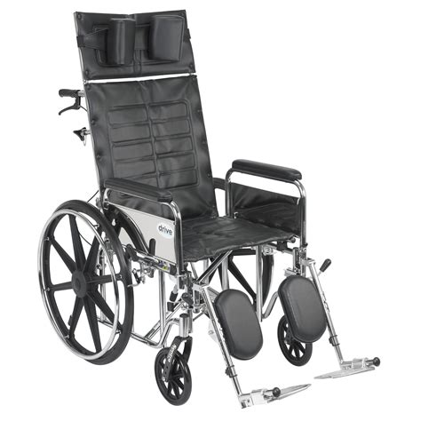 drive reclining wheelchair drive medical sentra reclining wheelchair detachable full