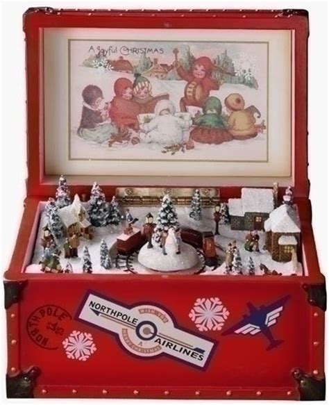 amusements retro animated vintage red trunk christmas