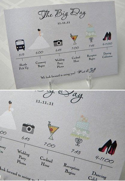 25 best ideas about wedding timeline template on