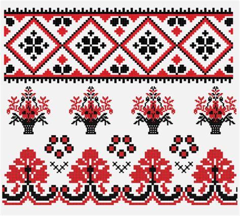 ukraine pattern vector ukrainian styles embroidery pattern vectors 12 vector