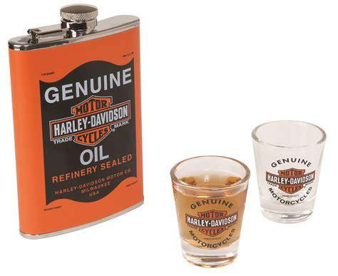 harley davidson oil can flask set birthday gift ebay