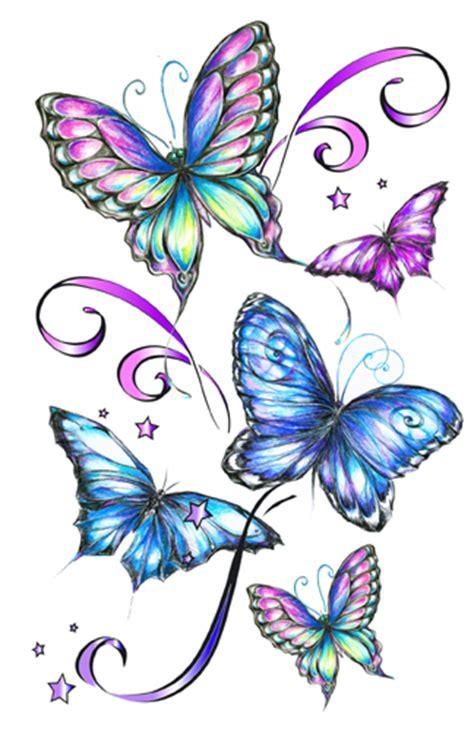 fantasy butterflies temporary tattoos