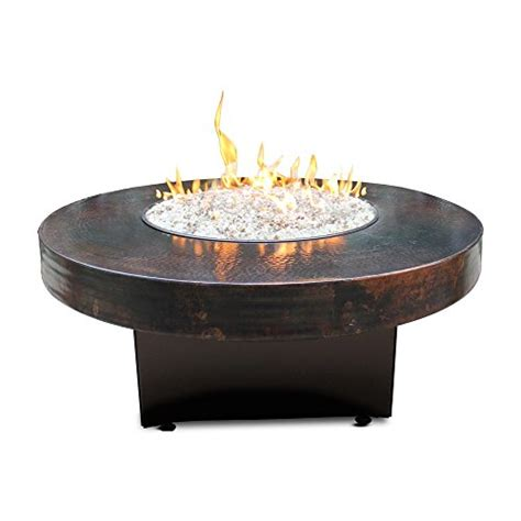 oriflamme pit hammered copper 42 quot oriflamme table gas pit table honeydo advisor