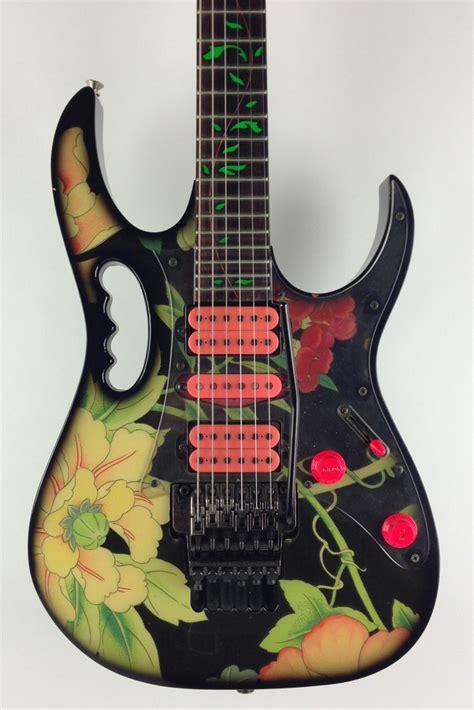 jem flower pattern ibanez jem77 floral pattern 1990 floral guitar for sale