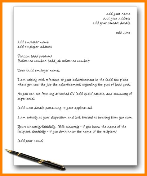 8 an exle of a cover letter letter adress