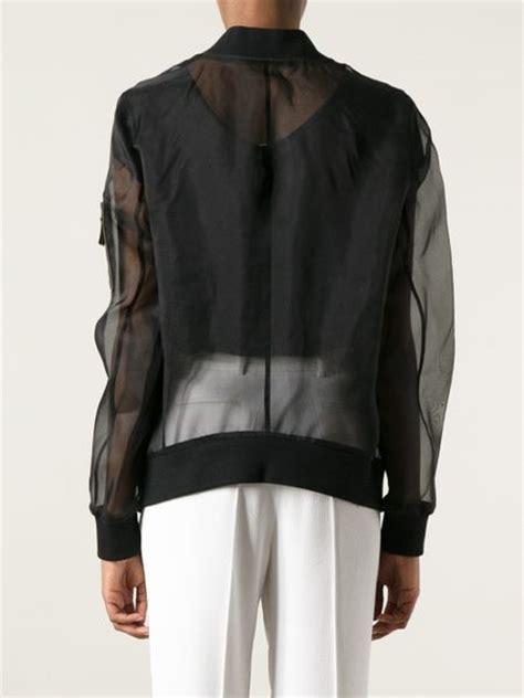 Sheer Jacket blk dnm sheer jacket in black lyst
