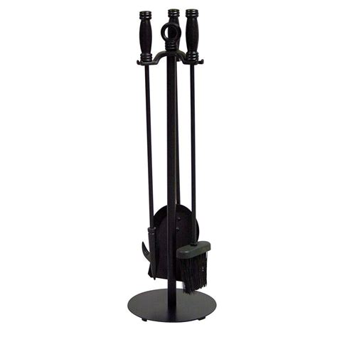 uniflame black wrought iron 4 fireplace tool set f