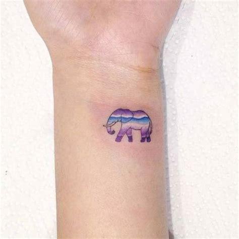 elephant tattoo purple 22 amazing small elephant women tattoo ideas styleoholic