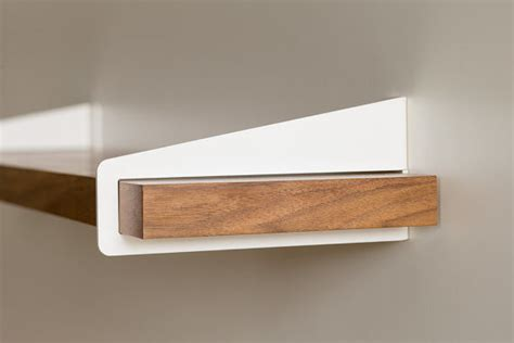 wall shelves with brackets wall stirrup shelf brackets modern display and wall shelves portland by quartertwenty