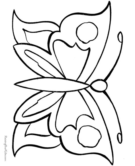 free coloring pages of outline of a butterfly