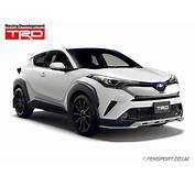 TRD Front Spoiler  Extreme Style Silver Toyota C HR