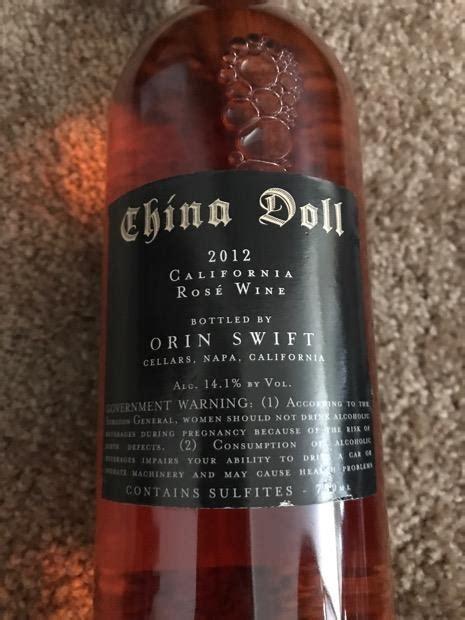 china doll wine 2012 orin china doll usa california napa valley