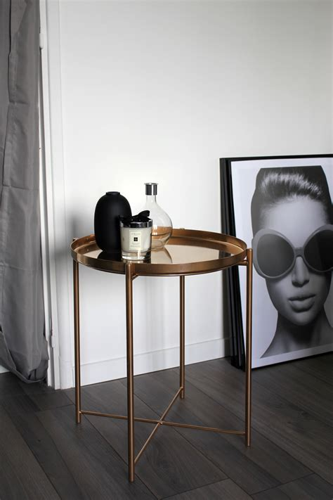 ikea gladom hack ikea hack une table basse version rose gold
