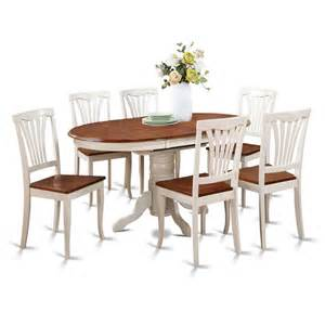 6 Dining Chairs East West Furniture East West Furniture Kenley 7 60x42 Oval Dining Room Set With 6 Dining