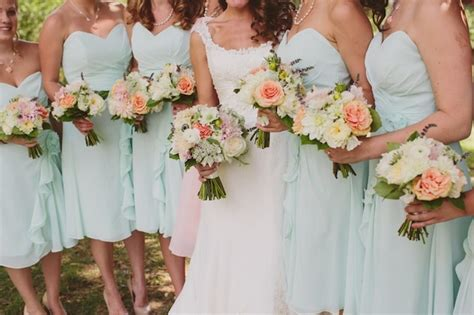 mint green coral wedding rustic mint green and coral orchard wedding part 1