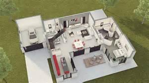 Incroyable Construire 2 Maisons Sur Un Terrain #4: Loft2-rdc.jpg