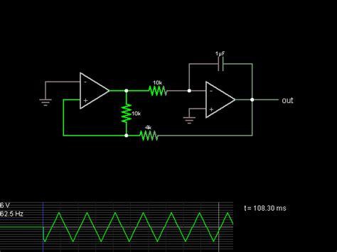 triangle wave generator circuit simulator