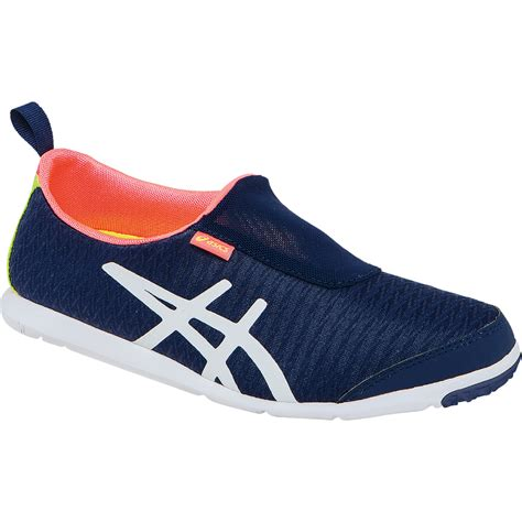 asics metrolyte 2 slip on womens walking shoe navy white