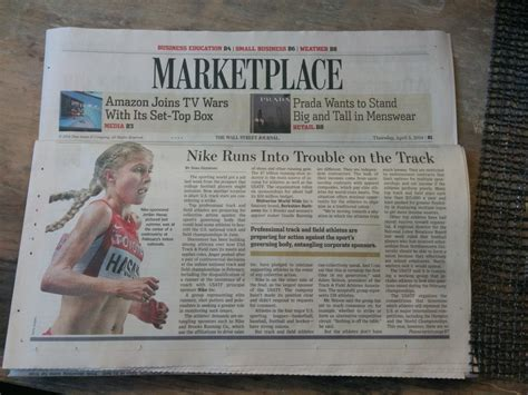 wall street journal sections usatf s incompetence makes front page of wall street
