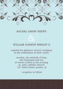 Free Wedding Reception Invitation Templates by Post Wedding Reception Invitation Templates