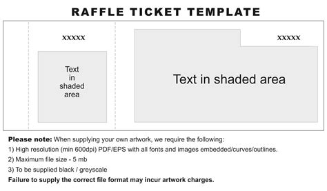 raffle ticket template word letter format business