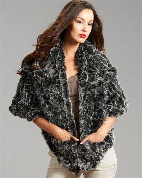 Rabbit Sweater Cc knit rex rabbit fur wrap shawl http www furhatworld