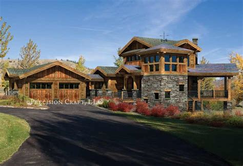colorado home plan by precisioncraft log timber homes
