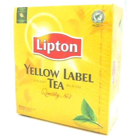 Teh Lipton Yellow lipton yellow label tea 100 bags buy uk europe