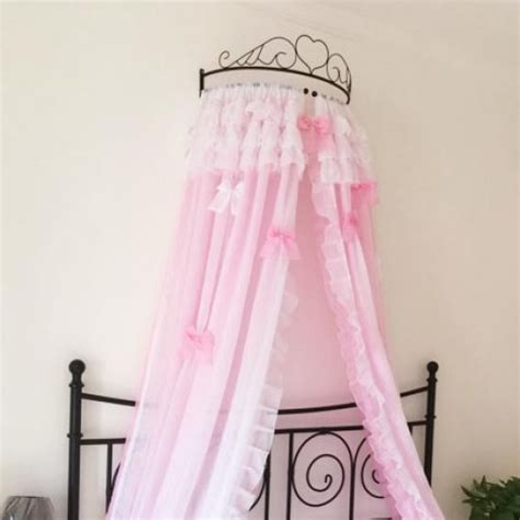 white sheer canopy bed curtain bed curtain