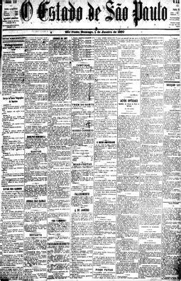 História do jornal O Estado de São Paulo na década de a